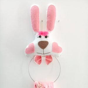 آویز حوله عروسکی طرح خرگوش